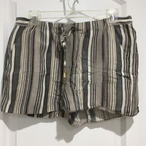 Vince Camuto drawstring striped shorts